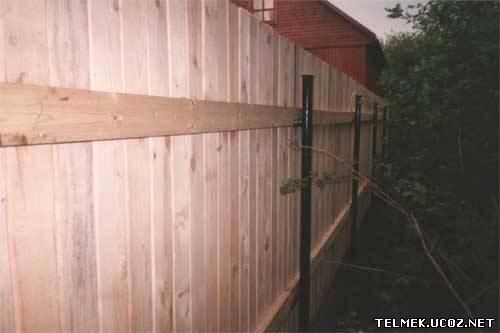Как сделать плетень из вагонки на даче